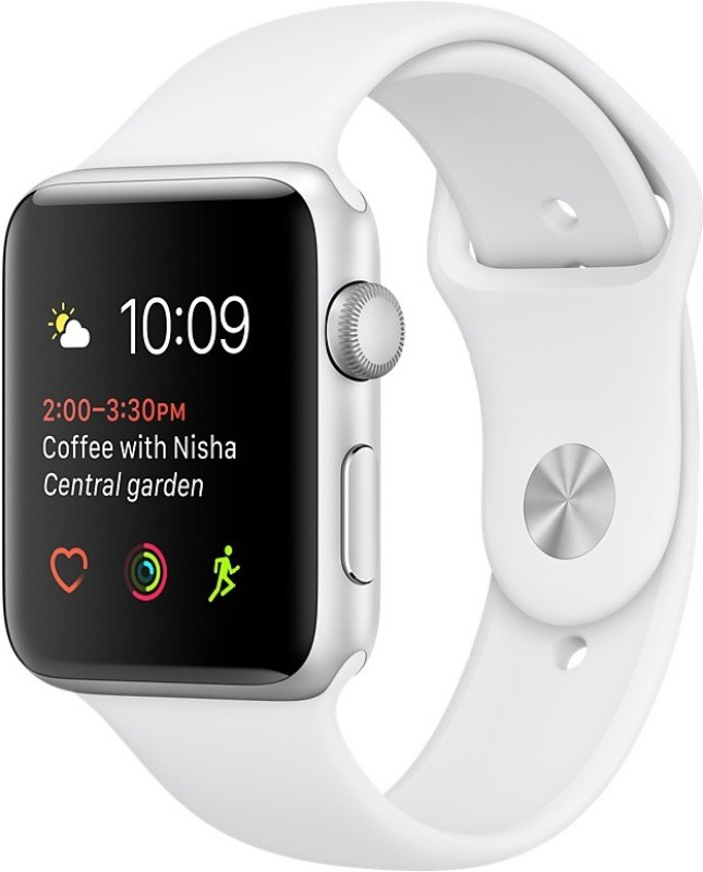 Apple Watch Series 2 - 42 mm Silver Aluminium Case with White Sport Band(White Strap Medium) 1