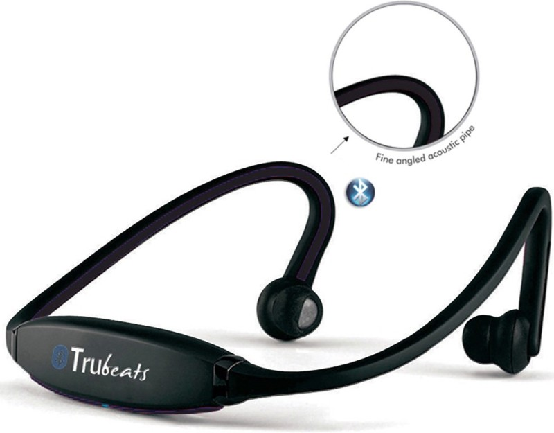 Medulla MED119 Trubeats Air BT Wireless Behind the Neck Headset Bluetooth Headset with Mic(Black, Over the Ear) 1